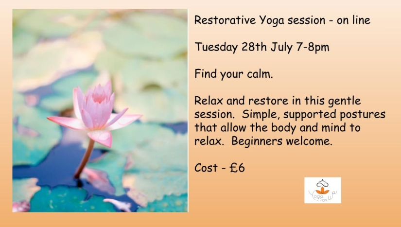 Monthly Restorative Yoga for July